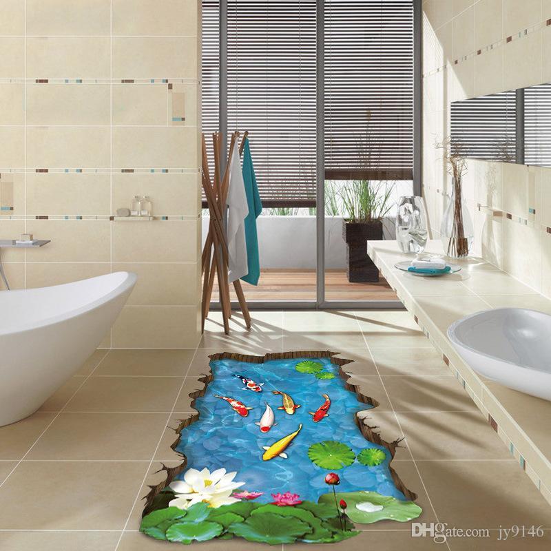 Großhandel Bunte Fische Pool 3d Boden Aufkleber Diy Gebrochen Wandbild  Tapete Für Wohnzimmer Badezimmer Dekoration Von Jy9146, $4.95 Auf  De.Dhgate.Com ...