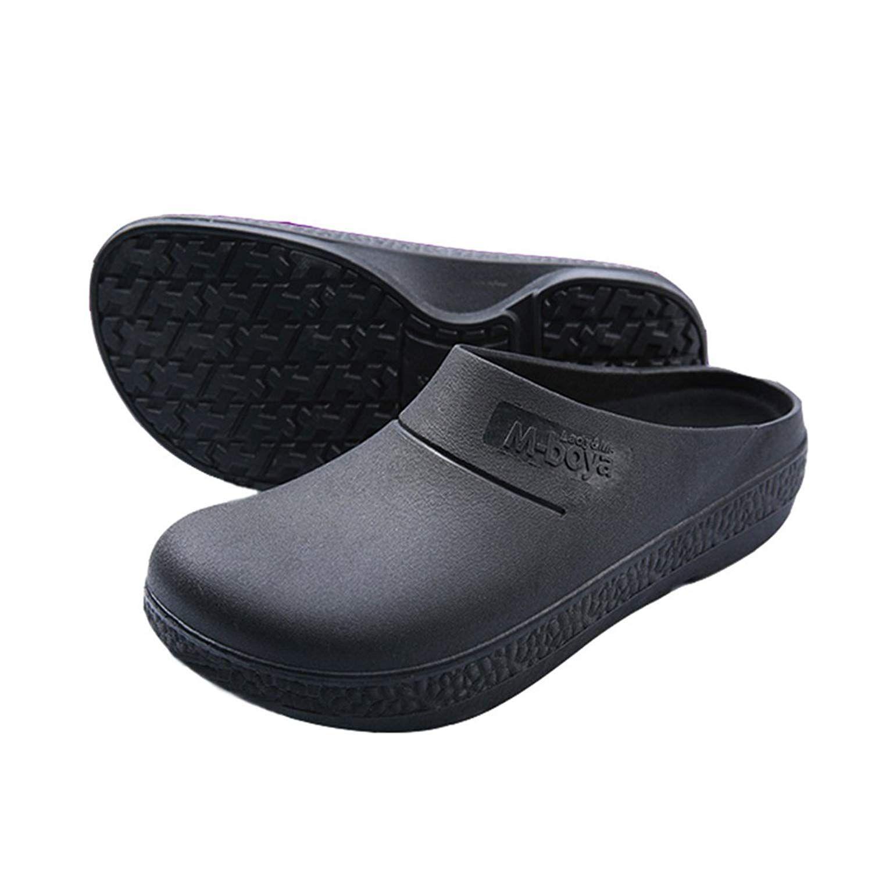 2019 Slip Resistant Chef Clog Mule Restaurant Non Slip Work Shoes Black For Men Women From Henty 40 15 Dhgate Com