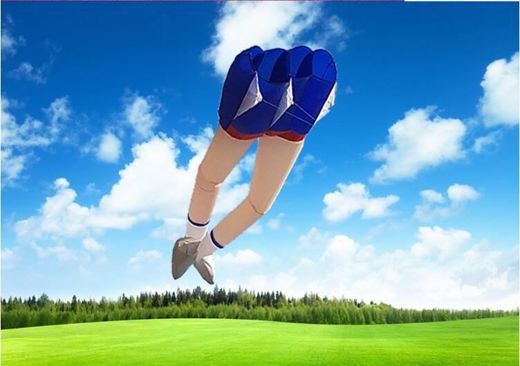gambe lunghe creativo ragazza molle linea di kite Buono aquiloni singola con 100 linee del kite esterne di Natale di sport giocattoli divertenti Aquiloni