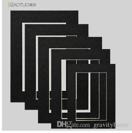 Photo Frames Accessories Acid Free Photo Mats For 6 inch Picture Poster 45 Degree Bevel Cut Wall Hanging Cardboard Wedding Frame