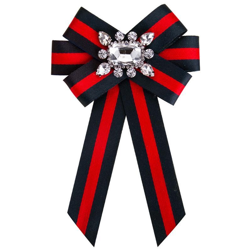 Новый лук Кристалл женщины броши булавки холст ткань бантом галстук галстук корсаж брошь для женщин одежда платье аксессуары