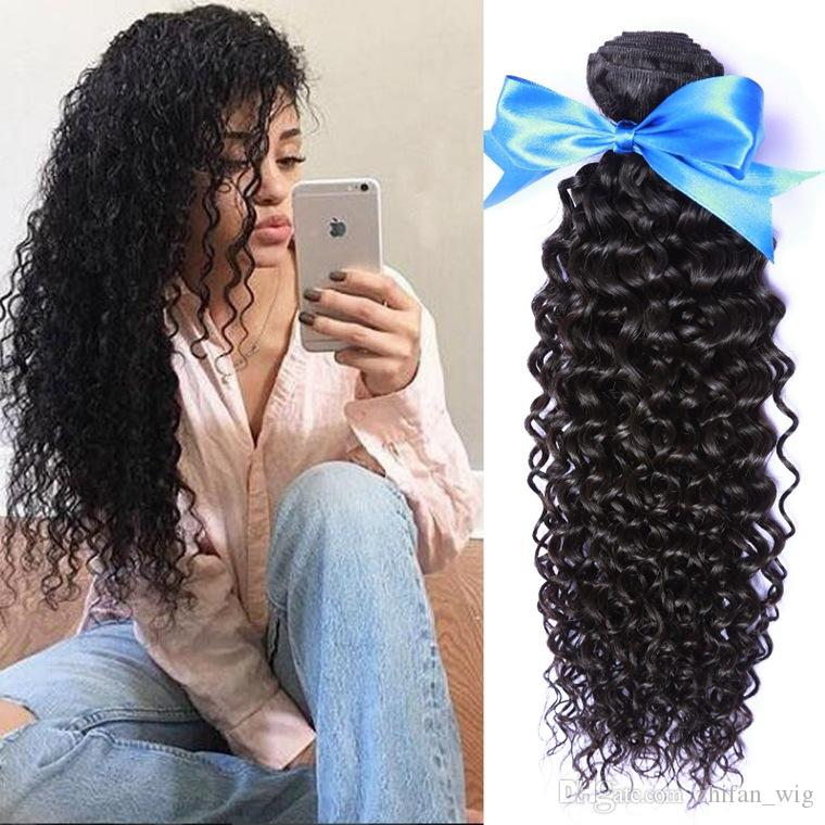 ZhiFan kinky curly hair side part 24inch 100g/pc kinky hair bulk for braids synthetic black for women