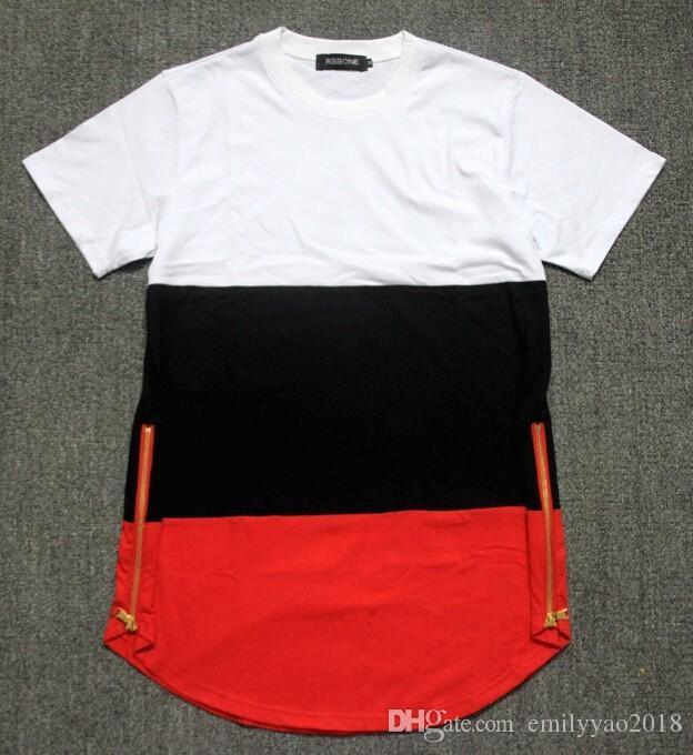 T-Shirt da uomo all'ingrosso Moda 2018 European American T-Shirt da uomo manica corta Casual-shirt uomo tshirt Top Tees Masculin multicolore