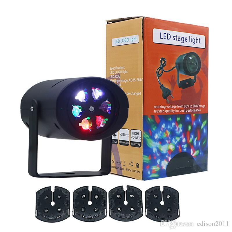 Edison2011 4 Slides LED Fairy Lights Snowflake LED Moving Head Stage Light Landscape Projector Laser Lamp For Christmas Party Light Garden