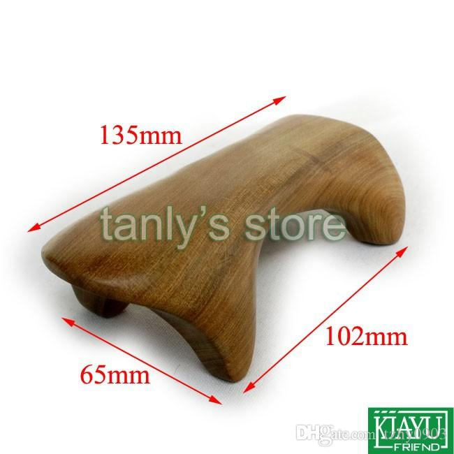 "Gift gua sha chart! Wholesale scented wood ""dog"" shape massage guasha kit Scrapping plate (110x45mm) 12pcs/lot"