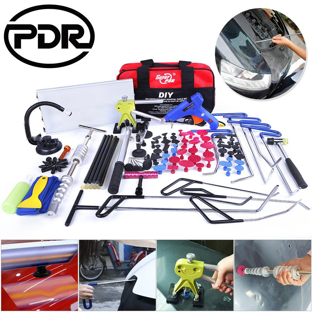 PDR Tool Set Hook Rods Tools Paintless Dent Repair Auto Tools Set Automobile Body Repair Car Door Dents Repair Updated Quality