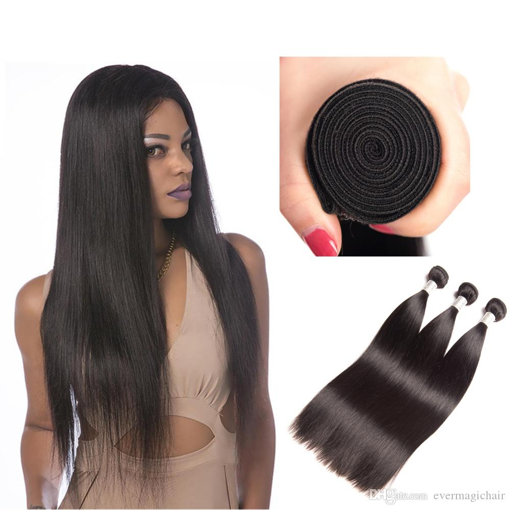 Peruivan Malaysian Indian Brazilian Hair Bundles Unprocessed Straight 9A Human Hair Weave 3pcs Dyeable Hair Extensions Double Weft For Sale