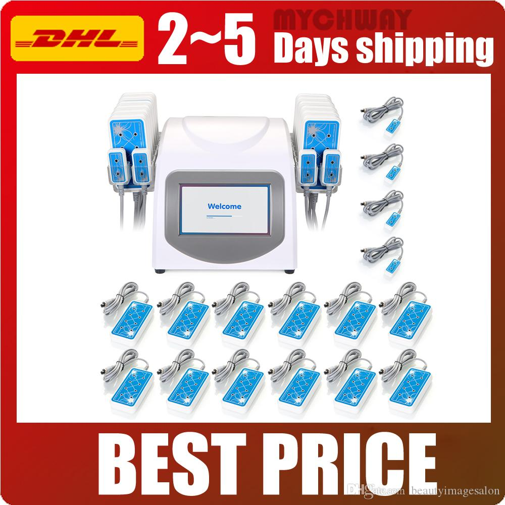 160mw 635nm-650nm 16 Pads Lipo Laser LLLT Cellulite Removal Body Shaping Slimming Beauty Machine Spa WL-UU1601