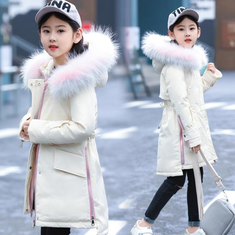 Princesse manteau d'hiver pour les filles en plume d'oie Kids Down Vestes 10 ans 12 14 ans enfants Outfit hiver filles vêtements