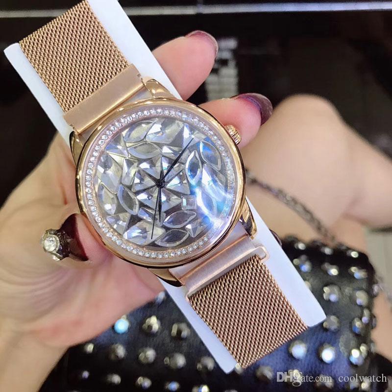 relojes ocasionales de las mujeres reloj Top Diamante Shell Dial pulsera banda de cuarzo reloj de pulsera para damas Agua Resistente regalo dropshipping Montre Femme