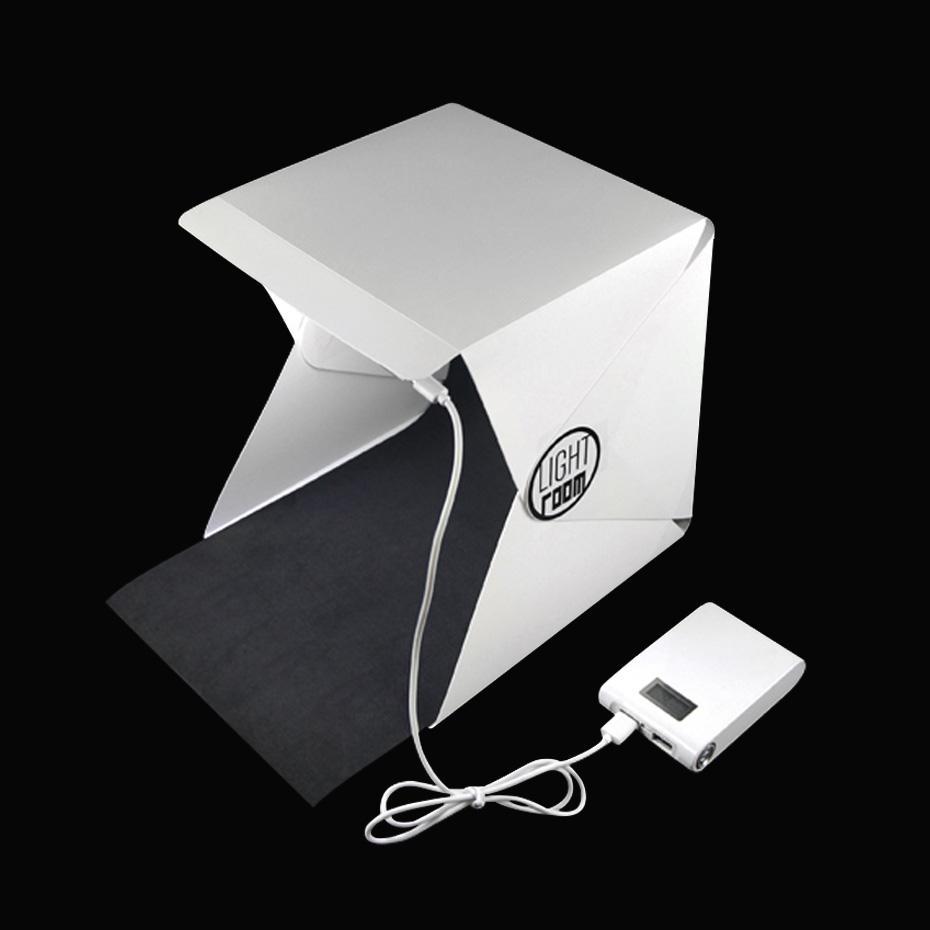 Fotografía Caja de luz portátil Sala de luz plegable Estudio fotográfico Fotografía Telón de fondo Mini Caja de iluminación Equipo de tienda Cable USB