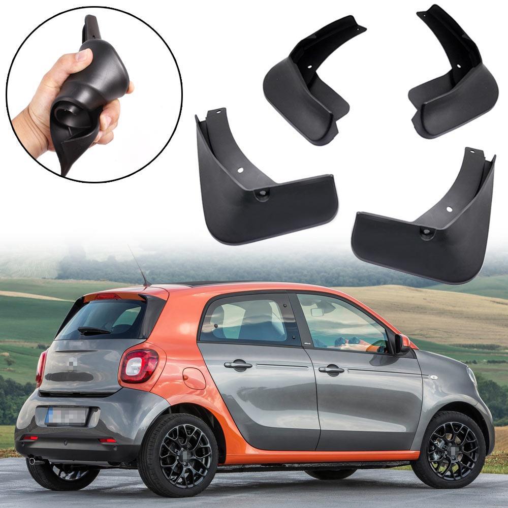 Nuovo 4 pezzi Auto Paraspruzzi paraspruzzi parafango parafango fit for smart forfour 2015 2016 2017