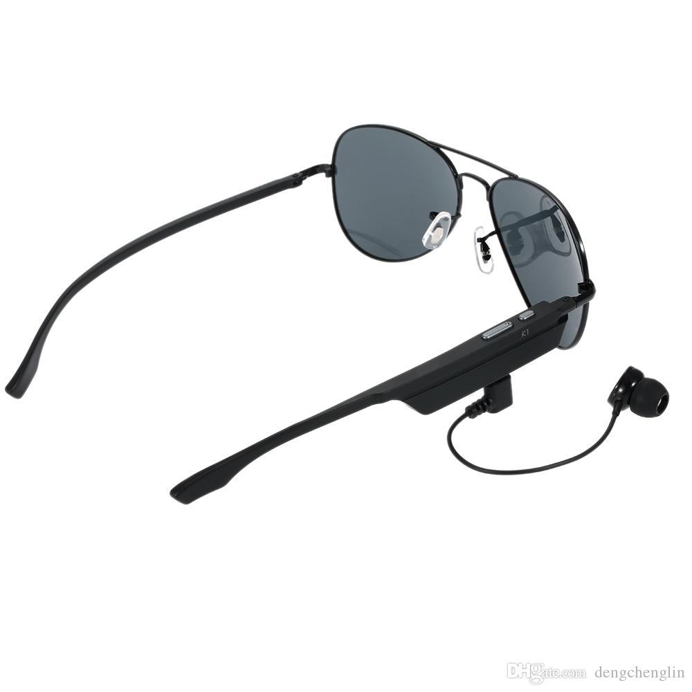 A8 سماعة بلوتوث النظارات الشمسية النظارات المستقطبة اللاسلكية BT4.1 EDR الموسيقى سماعة مايكرو USB حر اليدين ث / هيئة التصنيع العسكري سماعة في الهواء الطلق