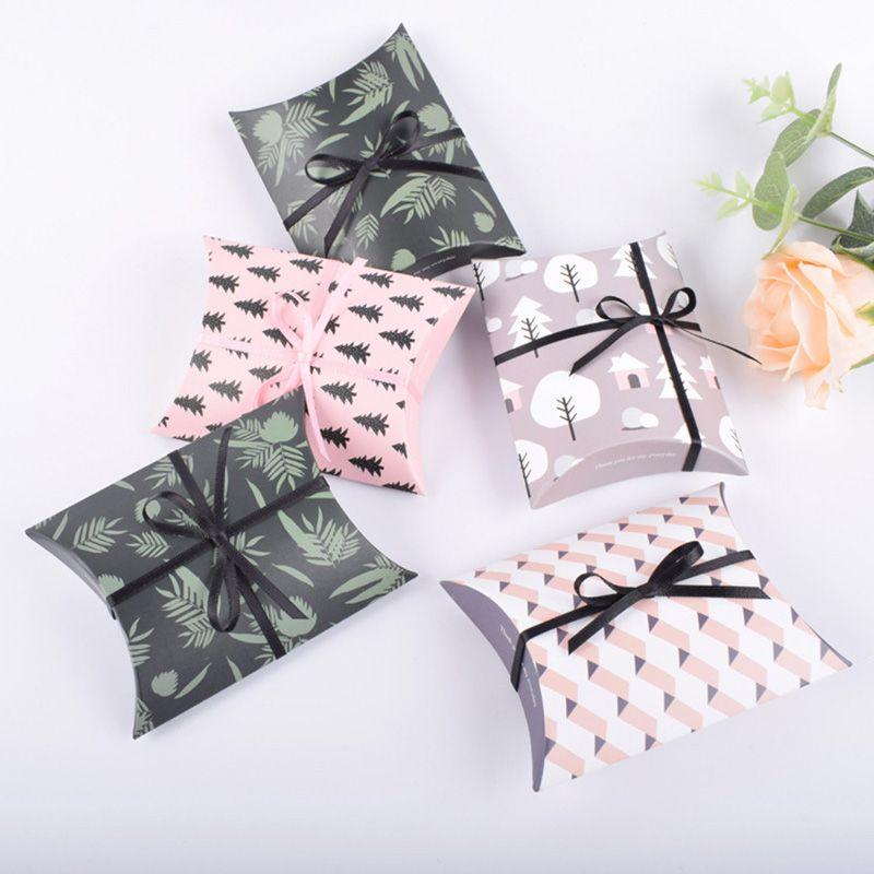 Favor de la fiesta de la boda Bolsa de regalo Dulce pastel de regalo caramelo Wrap Cajas de papel Bolsas Fiesta de aniversario Cumpleaños Baby Shower Presenta caja HH7-978