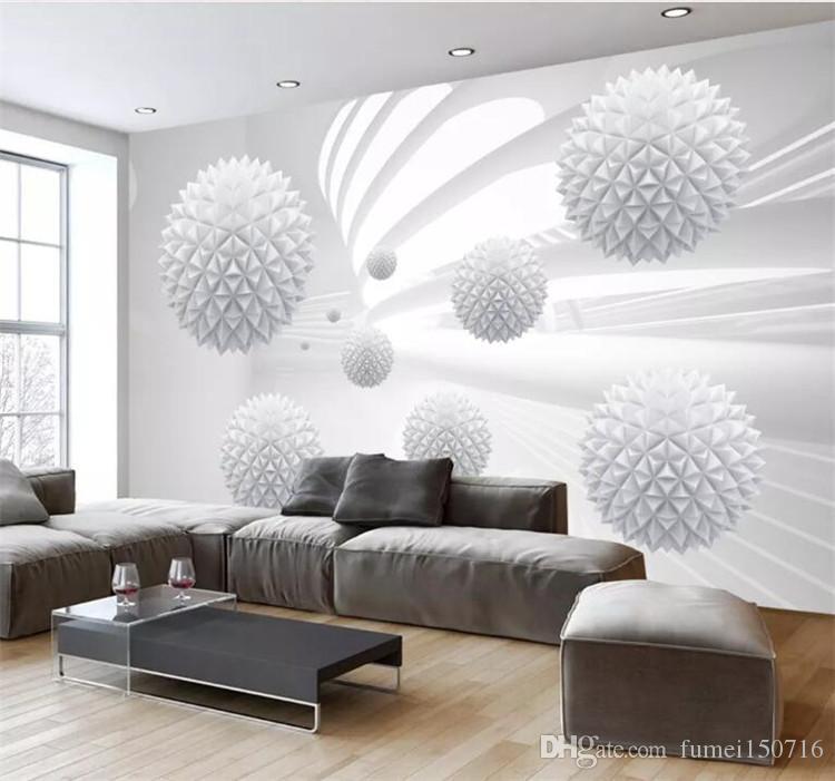 Custom 3d Photo Wallpaper Modern Simple Creative Designs Stereoscopic Space Round Ball Large Mural Wall Painting Art Wallpaper Rose Wallpaper