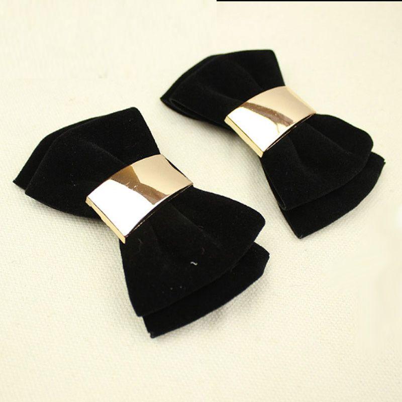 7 Renkler için Basit Moda Çift katlı Ilmek Ayakkabı Klip Kadife Ayakkabı Aksesuar bayan Ayakkabıları Yüksek Topuklu Loafer'lar