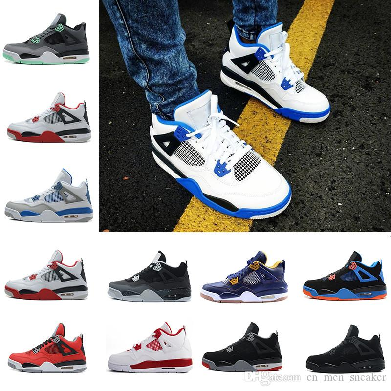 New arrived 100% hight quality waterproof 4 men basketball shoes all white cheap Basketball Men Athletic Shoes for sale