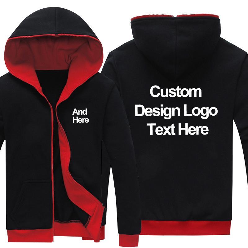 Drop Shipping Zipper Hoodies LOGO custom made Fashion Hoodies, Sweatshirts for men women DIY Customized Wholesale Free shipping
