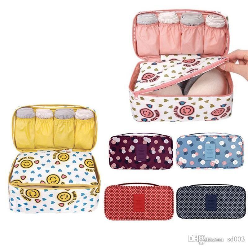 Multi Function Women Underwear Organizer Reggiseno Home Organizzazione Sacchetto di immagazzinaggio Sundries Wash Rinse Cosmetic Makeup Pouch Travel Sack 11nm dd