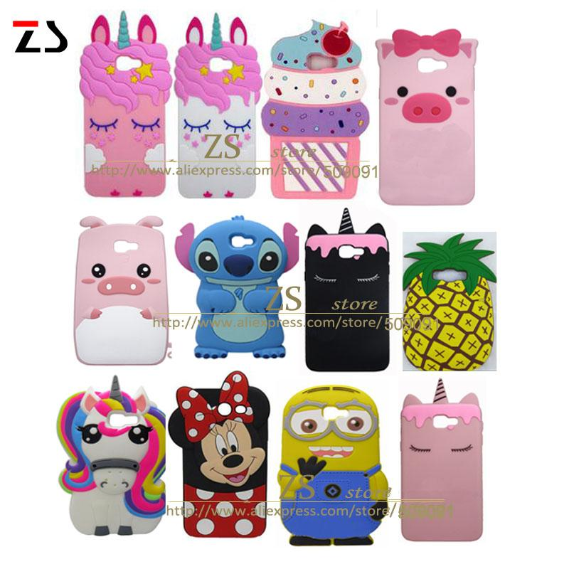 timeless design 11c73 ce13f For Samsung Galaxy J7 Prime 2 Back Cover Silicone 3D Cartoon Case For J7  Prime 2018 G611F G611 SM G611F Shell Capa Make Your Own Cell Phone Case  Cell ...