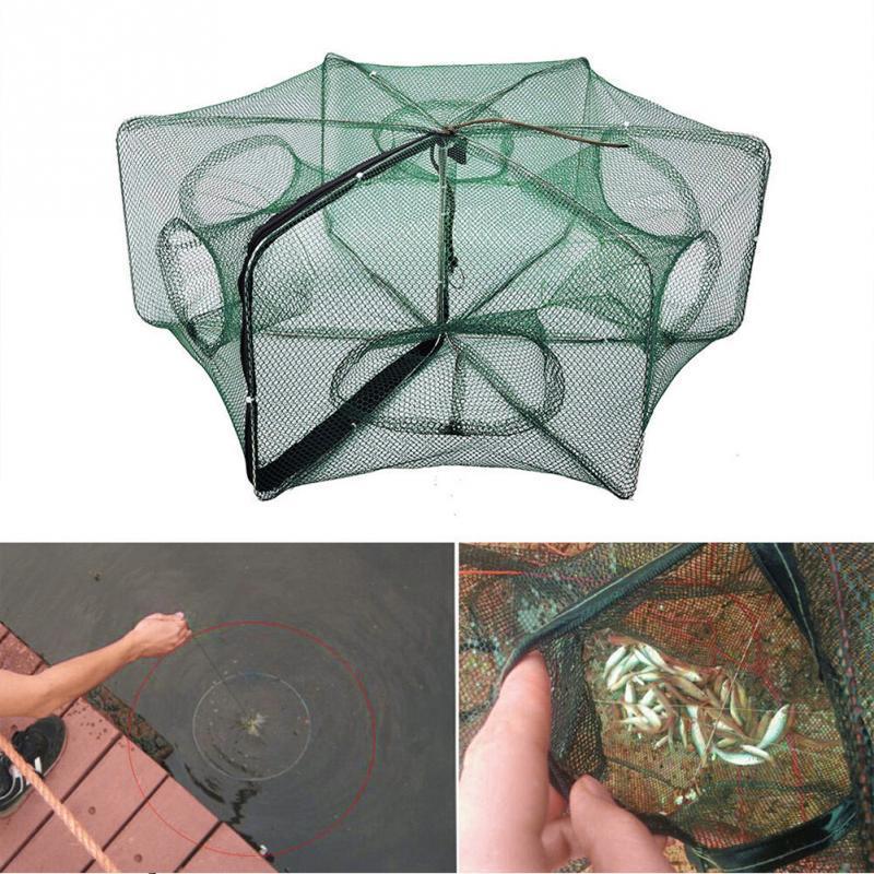 Plié hexagone portable 6 trous pêche automatique crevette piège filet de pêch Nd