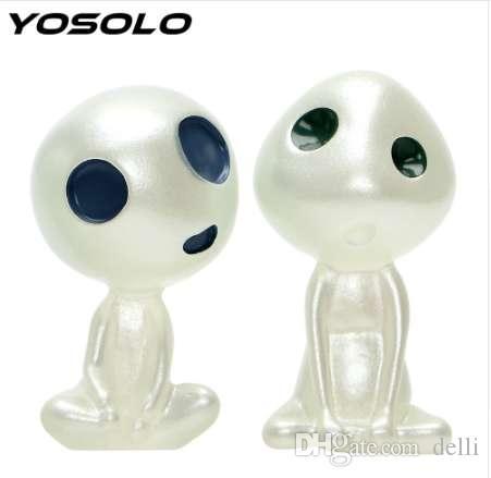 YOSOLO Dessin animé Résine Lumineux De Voiture Ornement Auto Décoration Mini Alien Poupées Car-style Accessoires D'intérieur
