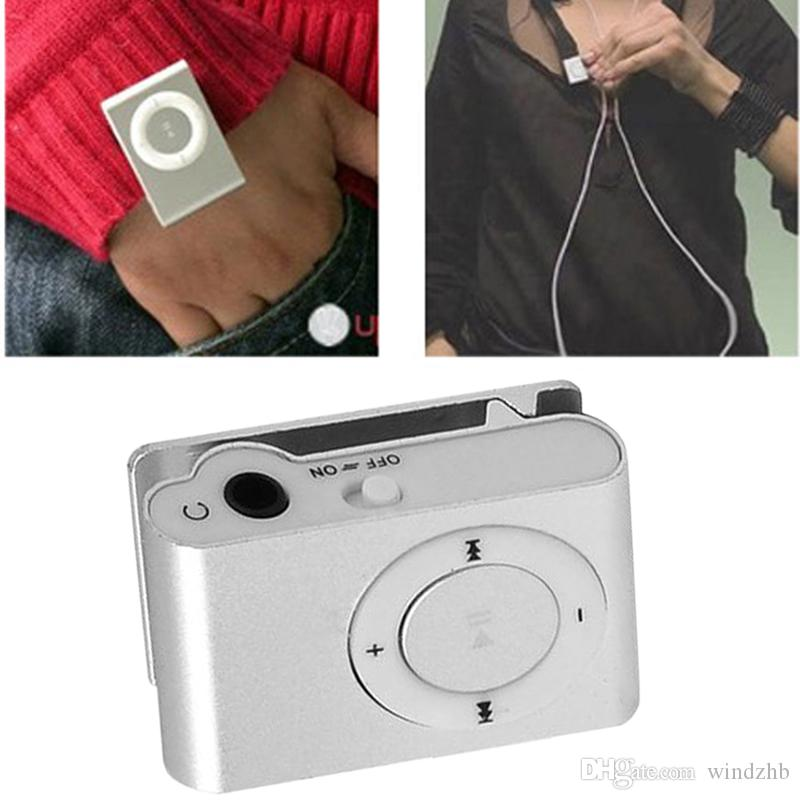 Cheap Mini Clip MP3 Support Micro TF/SD Slot With Earphone and USB Cable Portable MP3 Music Players Free Shipping