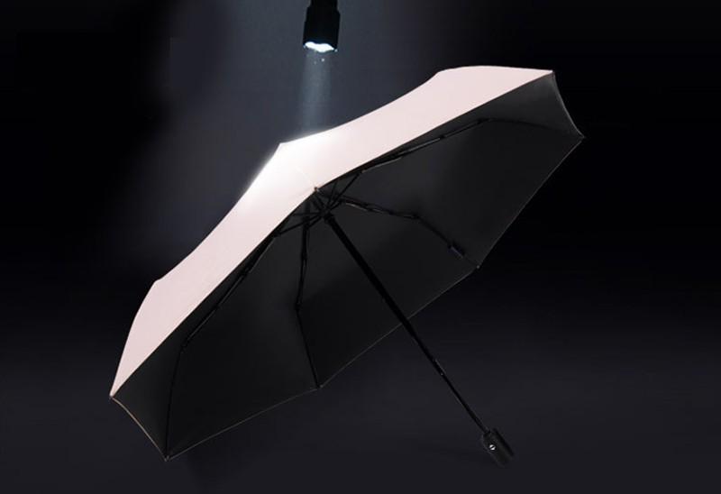Fashion White Auto Open Auto Close Umbrella Rain Women Men 3 Folding Automatic Umbrella Black Coating Sun Umbrella9