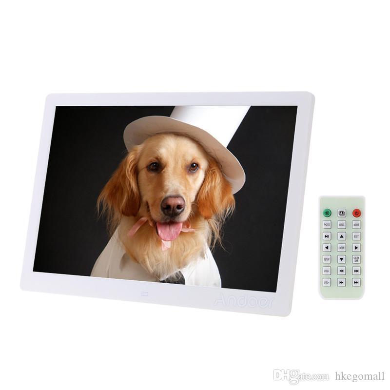 إطار الصورة الرقمية LED 1280 * 800 إطار صور عالي الدقة مع ساعة منبه مشغل MP3 MP4 Movie Remote Control