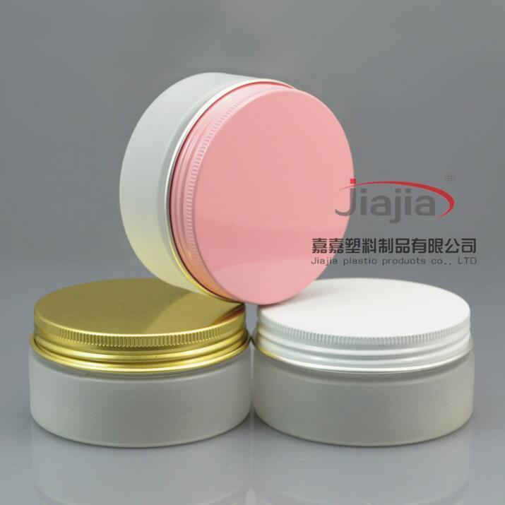 بلوري 80G واضح PET يمكن مع الذهب / أبيض / الوردي الألومنيوم غطاء، البلاستيك تعليب جرة بلاستيكية يمكن الغذاء يمكن 80ML حاوية