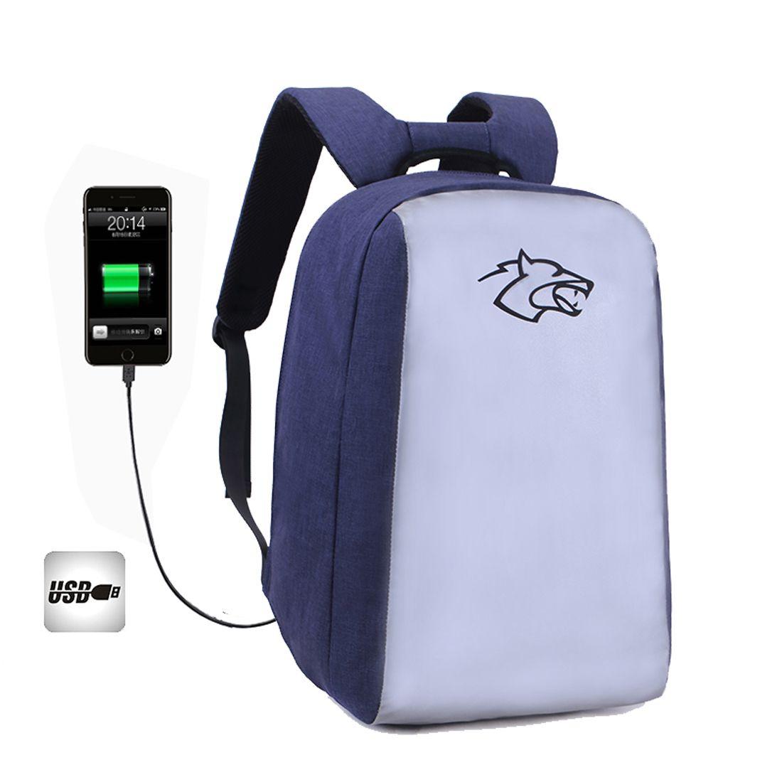 Sac à dos pour ordinateur portable professionnel avec port de chargement USB Étanche Anti-vol grande capacité Sac à bandoulière pour étudiant
