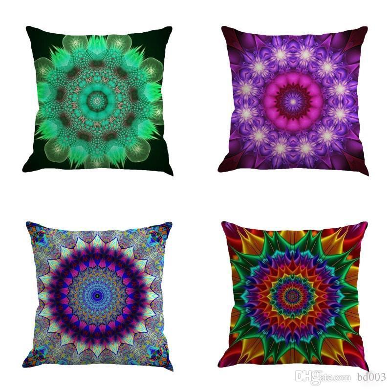 Fashion Mandala Bohemia Pillow Case Romantic Novelty Throw Cushion Cover For Sofa Bed Decorations Many Styles 5 5ny ZZ