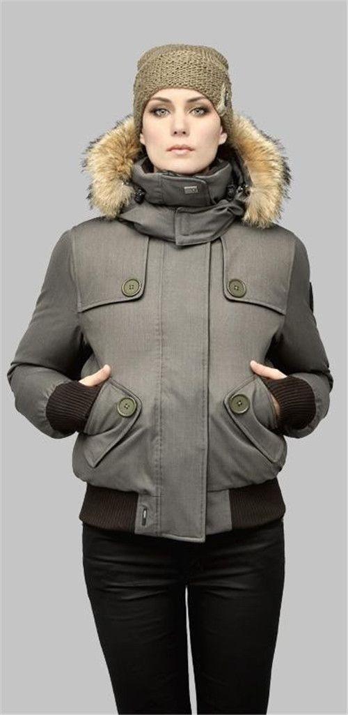 Nueva llegada DHL envío gratis Top Italia marca mujer AUDRINA Bomber Parka Abajo chaqueta Invierno Arctic Coat sudadera con capucha con piel Venta barato