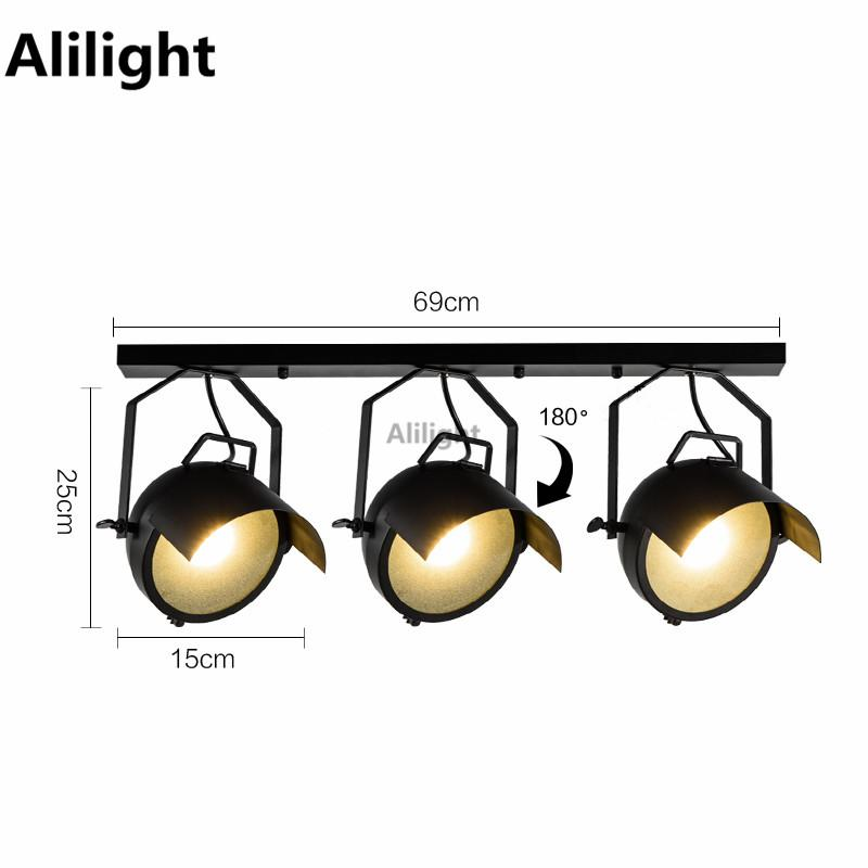 outlet store f9367 604aa 2019 Loft Industrial Hat Cap Track Lamp LED Track Lighting Bar Clothing  Stores Retro Rail Lamp Vintage Absorb Home Lighting Fixtures From Lightx,  ...
