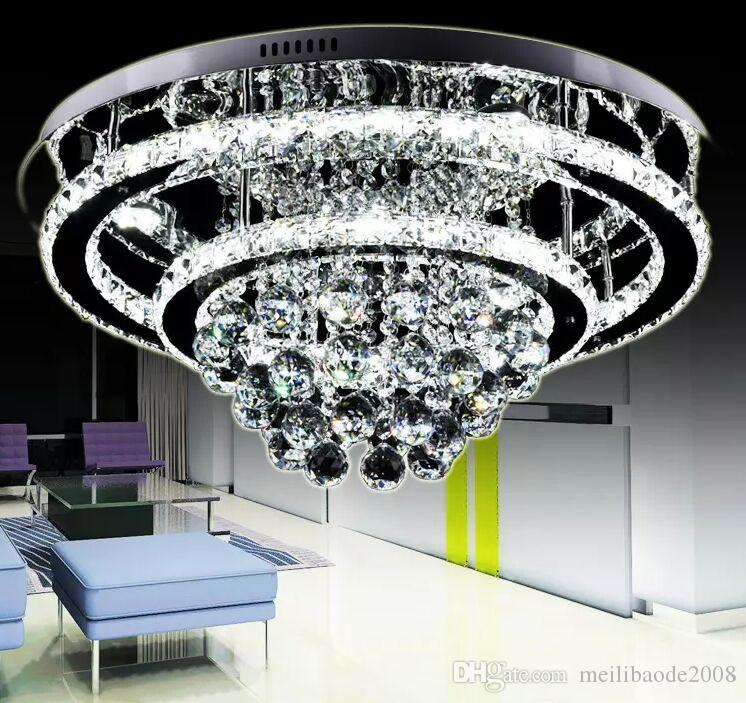 Modern Luxurious Generous Brilliant Stainless Steel LED Crystal Chandeliers Ceiling LightS Fixture Pendant Lamps Intelligent Remote Control