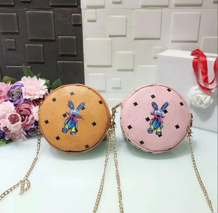 Korean version of the top quality 3D printed wallet women's rabbit shoulder bag, girls round cute Messenger bag