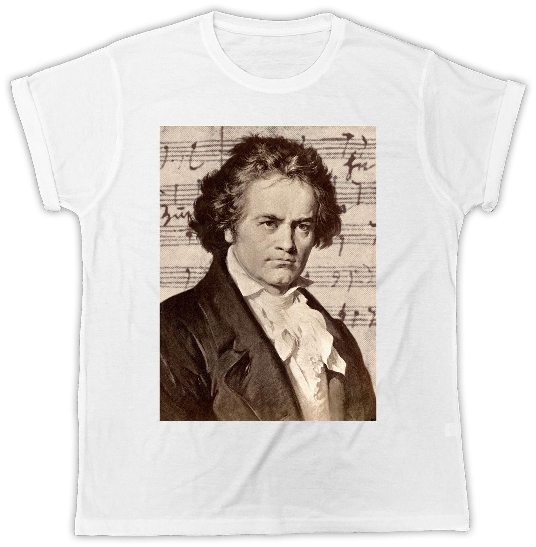 Beethoven camiseta marco de la música clásica Compositor del regalo de la camiseta de los hombres divertidos de Harajuku Tee Shirts 2018 nueva marca de fábrica