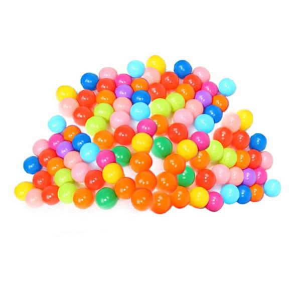100 Pcs Colorful Ball Ocean Balls Soft Plastic Ocean Ball Baby Kid Swim Toy for Children Gift Swim Pits Toy 5.5CM With Storage Bag