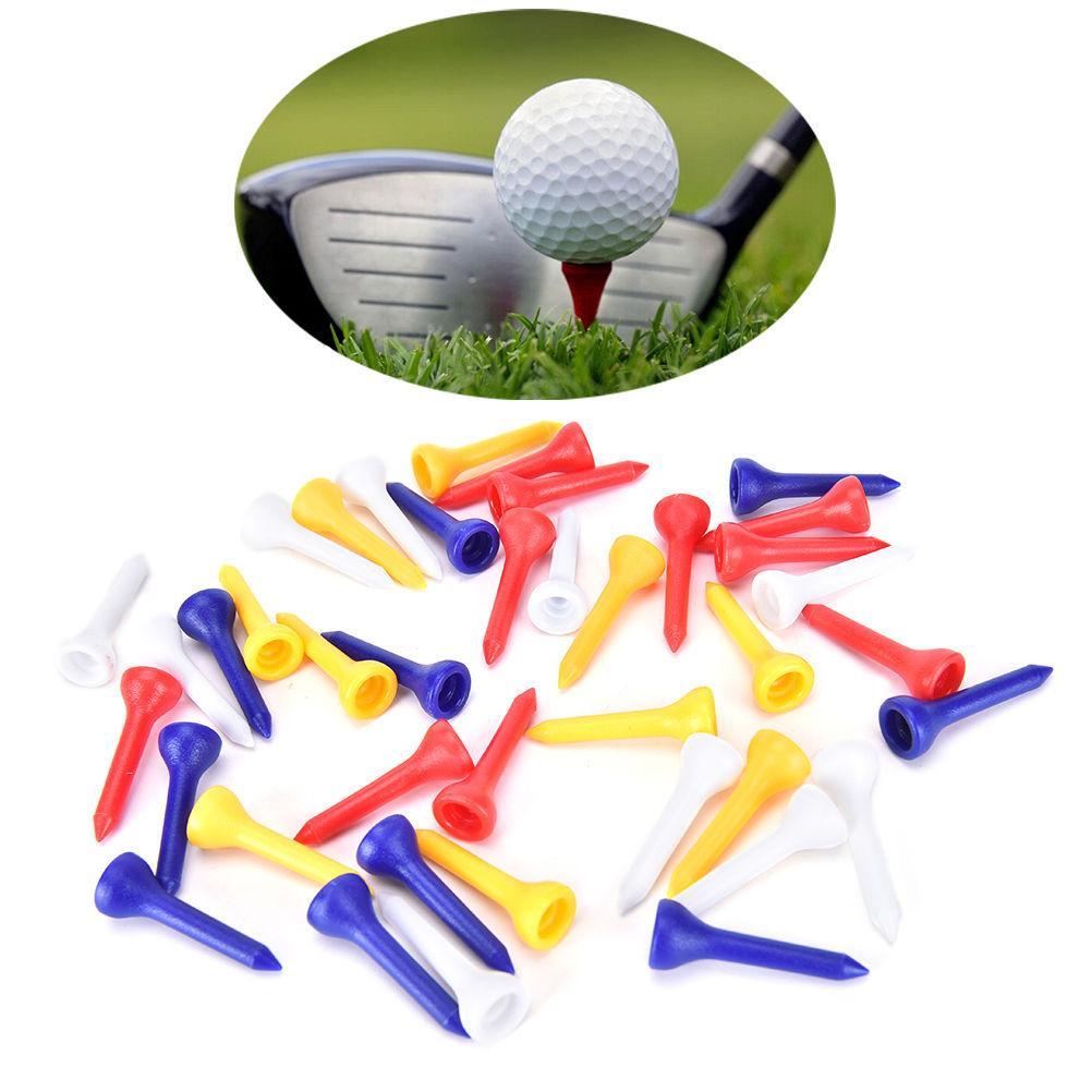 Gmarty 100 pcs 36mm Plástico Golf Tee Titular Bola De Golfe Equipamento de Treinamento de Ajuda Acessórios Ferramenta Para O Esporte Ao Ar Livre Do Golfe cor Aleatória