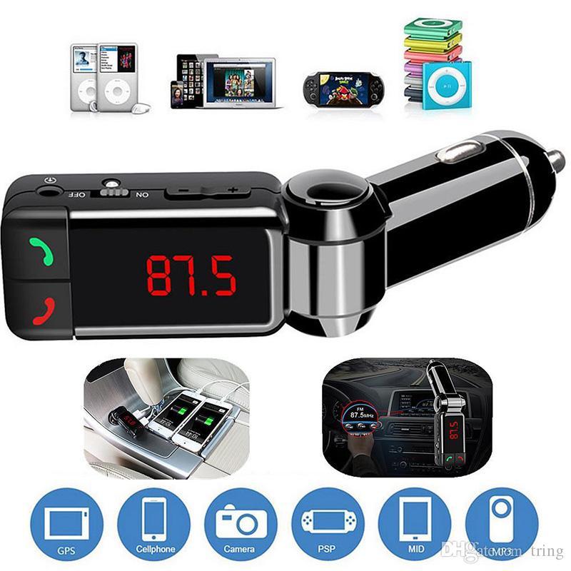 새로운 자동차 LCD 블루투스 차량용 키트 MP3 FM 송신기 손 무료 USB 충전기 삼성 HTC 안드로이드에 대한