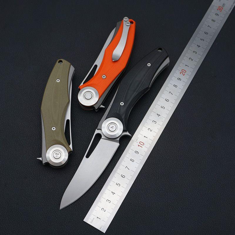 popolare strumento Dark EDC D2 lama G10 impugnatura a sfere sistema veloce caccia campeggio escursionismo tattico di sopravvivenza pieghevole coltello da tasca di salvataggio