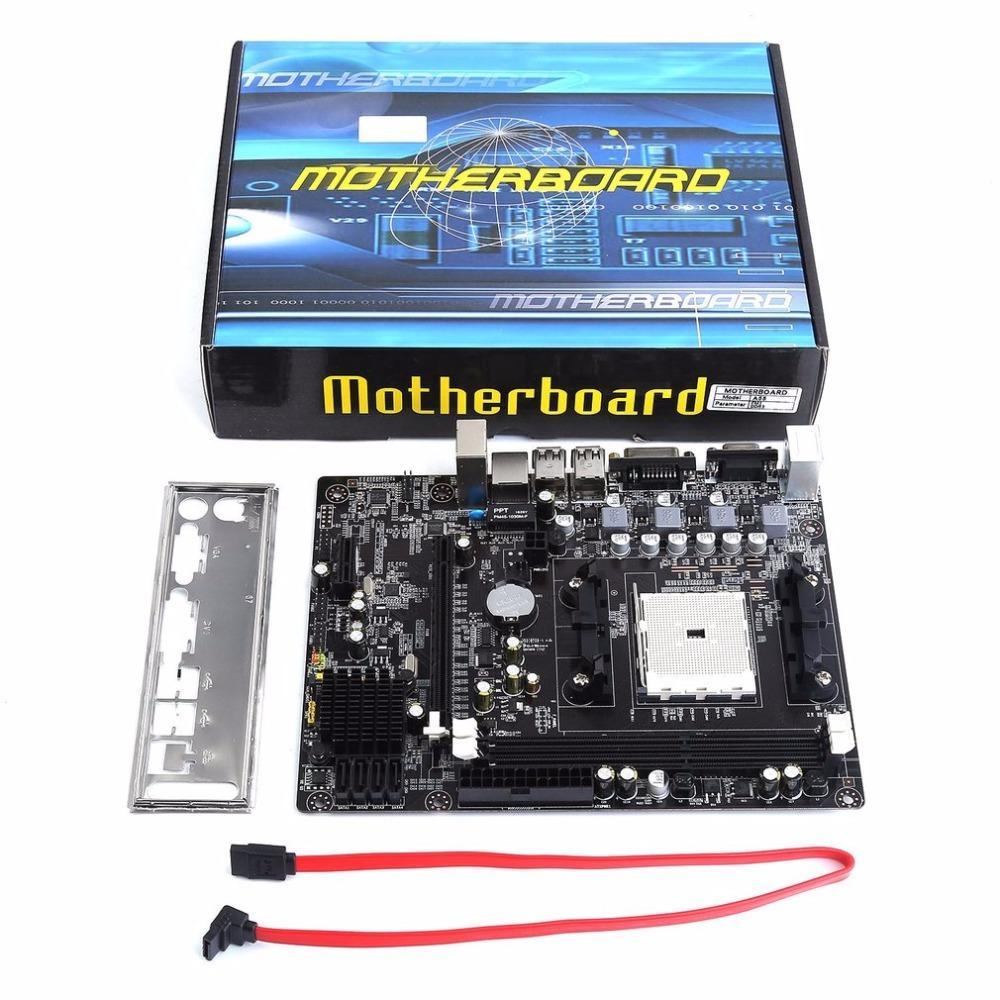 Freeshipping Için A55 Masaüstü Anakart Destekler Gigabyte GA A55 S3P A55-S3P DDR3 Soket FM1 Gigabit Ethernet Anakart Ücretsiz Kargo