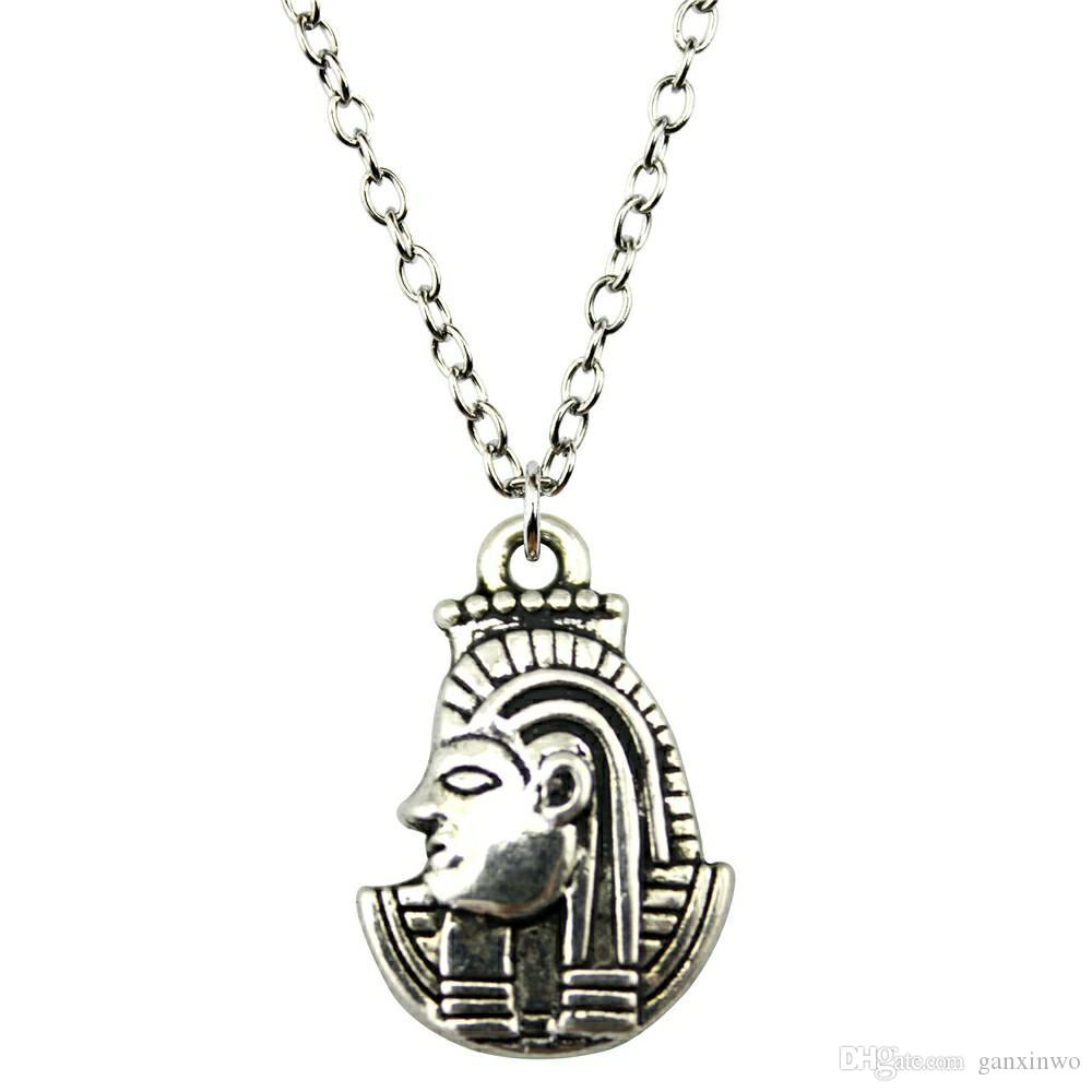 WYSIWYG 5 Pieces Metal Chain Necklaces Pendants Pendant Necklace Women Queen Of Egypt Cleopatra 22x15mm N2-B13343