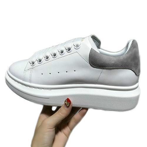 Men Casual Fitness-Schuh-Leder der Frauen der Männer Art und Weise weißes Leder bequeme Schuhe flache Freizeitschuhe tägliches Jogging