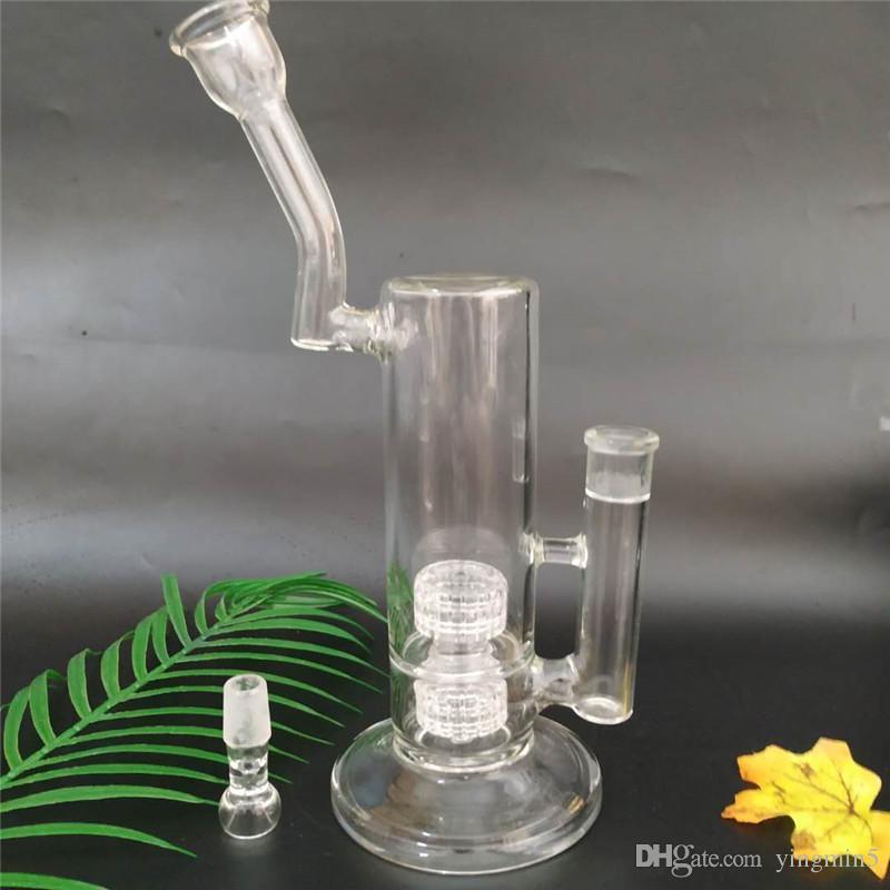 Vendita calda La più recente Mobius Matrix Glass Bong in vetro per fumo di tubi per tubi acqua con 2 percs 12 pollici in alto (GB-186-1)