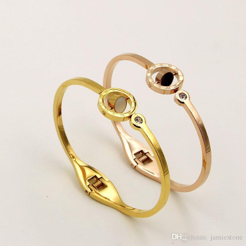 Gold Bracelet Jewelry Design For Girls Rose Simple Gold Bangle ...