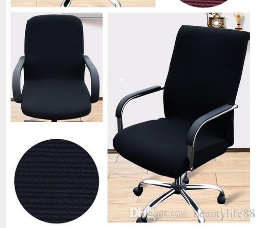 لون واحد لون كبير مرونة كرسي الكمبيوتر يغطي غرفة المعيشة دون مسند ذراع مكتب تمتد ضيق التفاف ورقة حالة مقعد ديكور المنزل