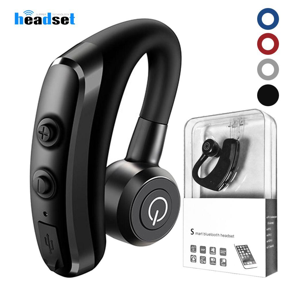 K5 громкой связи беспроводные наушники Bluetooth контроль шума бизнес Беспроводная Bluetooth гарнитура наушники с микрофоном для водителя Спорт v9 v8