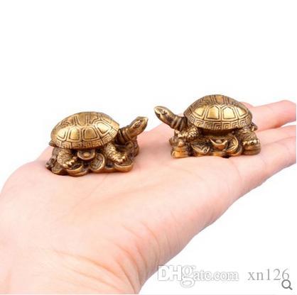 Заводская цена прямых продаж бутик медь черепаха украшения специальный раструб черепаха украшения Фэн-Шуй мебель