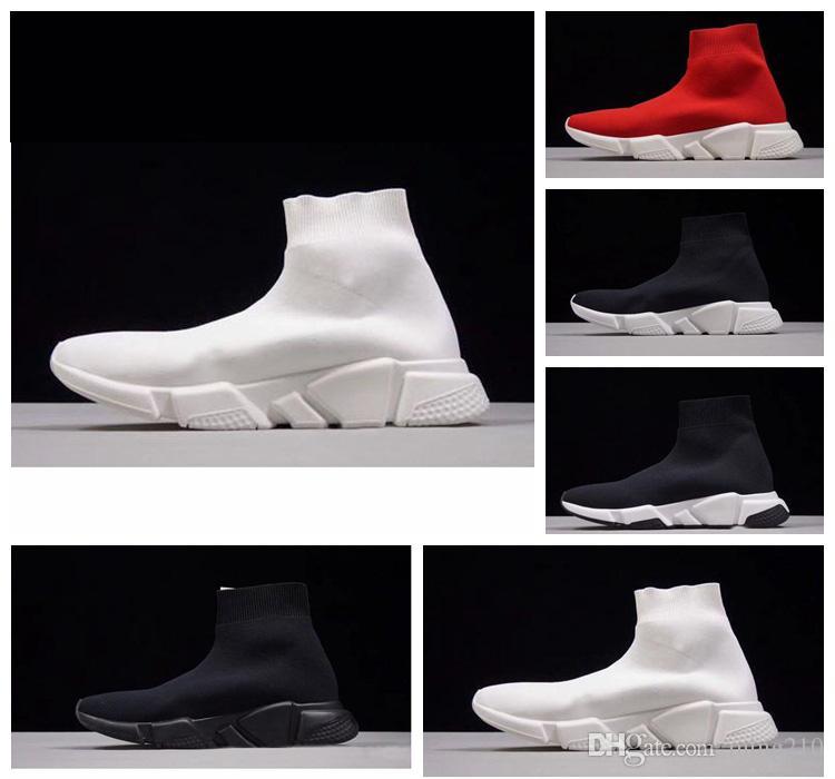 2018 Sıcak Satış Çorap Koşu Ayakkabıları kadın erkek Siyah Beyaz Kırmızı Hız Eğitmen Spor Sneakers En Çizmeler Rahat ayakkabı mens